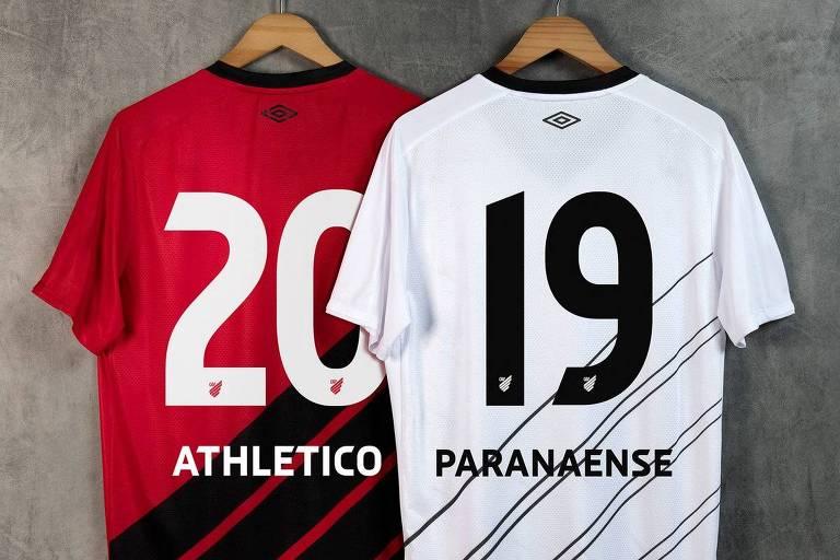 Atlético-PR apresenta nova identidade visual: nome com a letra H e escudo apenas com a sigla e quatro linhas diagonais