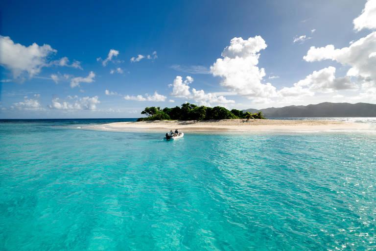 Barcos substituem hotéis nas Ilhas Virgens Britânicas