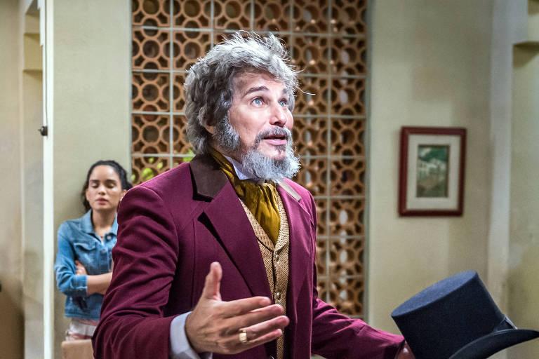 Edson Celulari (Dom Sabino), em O Tempo Não Para