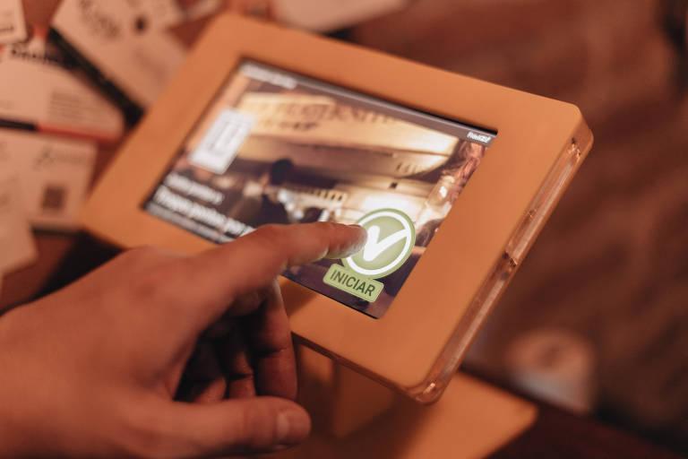 Tablet que a Fidelizi! usa para rodar programas de fidelização