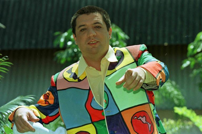 O humorista Bussunda, um dos apresentadores do programa de televisão Casseta & Planeta