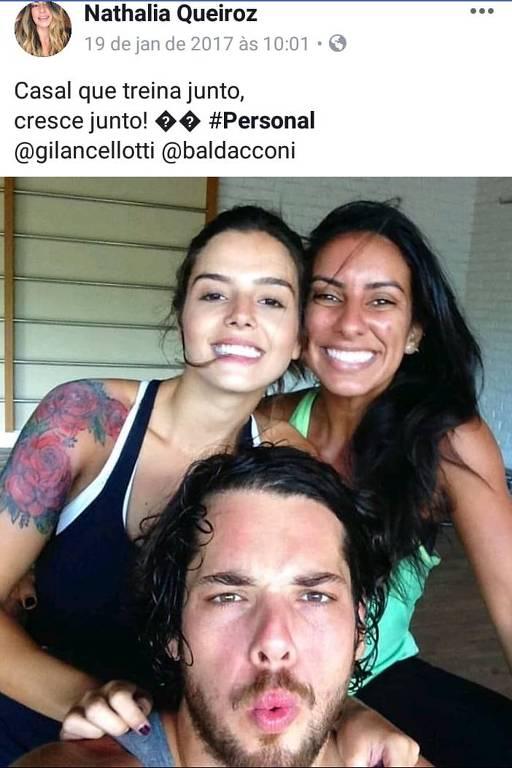 A personal trainer Nathalia Queiroz, 29, que aparece em relatório do Coaf