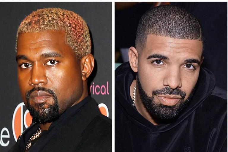 Kayne (esquerda) e Drake (direita) chegaram a coproduzir