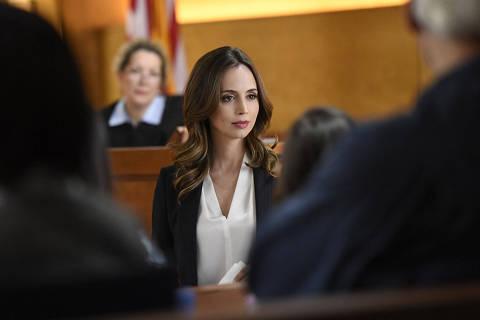 Dushku interpretou J.P. Nunnelly, uma advogada de defesa criminal, em