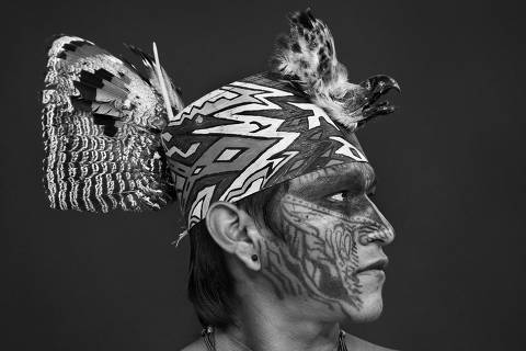 Sebastião Salgado yawanawás  na Amazônia. USAR APENAS PARA CHAMAR O ESPECIAL DO SITE