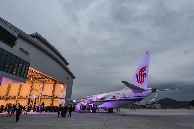 Entrega de aeronave da Boeing 737 Max para a companhia aérea Air China