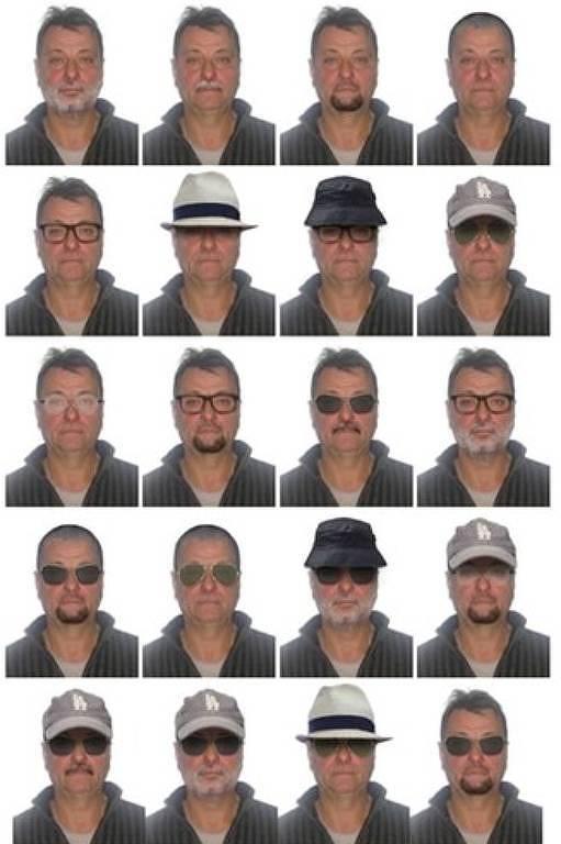 Polícia Federal elaborou retratos com possibilidades de disfarce de Cesare Battisti