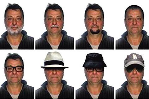 Polícia Federal elaborou retratos com possibilidades de disfarce de Cesare Battisti — Foto: Polícia Federal  outra ORG XMIT: AGEN1812161600103432