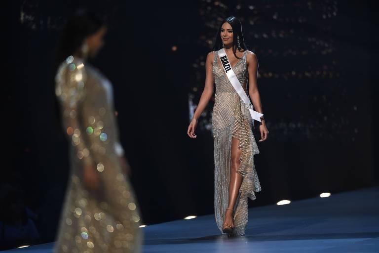 Mayra Dias, a miss Brasil, compete no Miss Universo 2018 em Bangkok, na Tailândi
