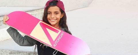 A skatista Rayssa Leal, 10, em imaem de seu Instagram. (Foto: Reprodução/Instagram)