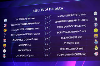 Champions League - Round of 16 Draw