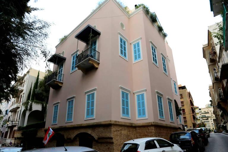 Casa de Carlos Ghosn em Beirute, no Líbano