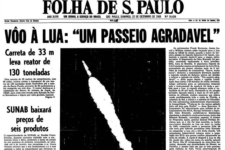 1968: Primeira missão tripulada à Lua, Apollo 8 já está na órbita terrestre