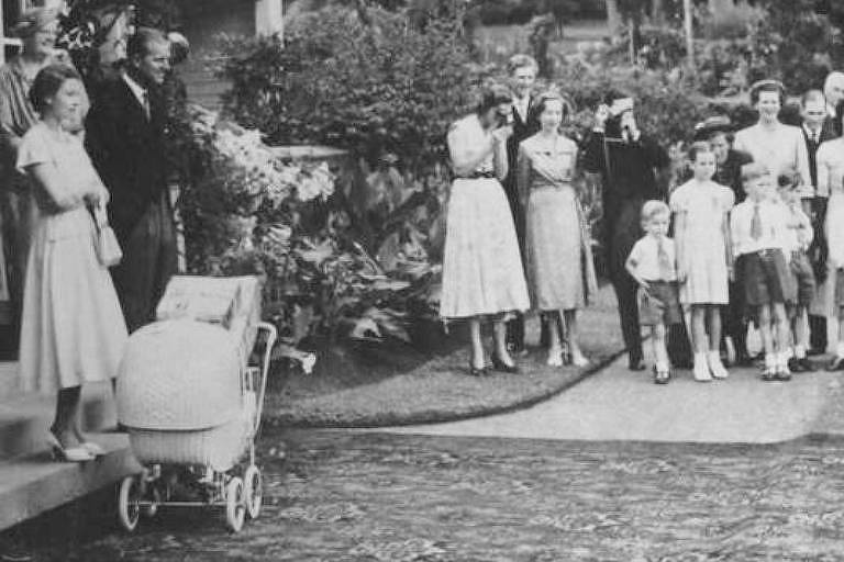 A rainha Elizabeth 2ª e o duque de Edimburgo no dia de Natal, na Nova Zelândia, em 1953