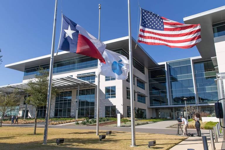 Campus da Apple em Austin, no Texas; empresa expande para além da Califórnia
