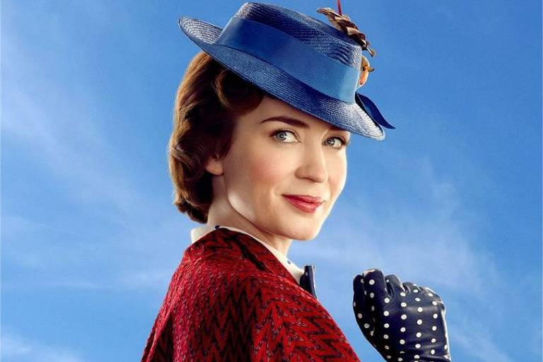 Emily Blunt no papel de Mary Poppins