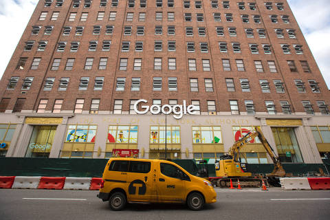 FILE -- The offices of Google in Manhattan on July 27, 2018. Google said on Monday, Dec. 17, 2018, it would expand its presence in New York City with a $1 billion campus in the West Village, allowing the company to double the size of its 7,000-employee work force over the next decade. (Benjamin Norman/The New York Times) ORG XMIT: XNYT23
