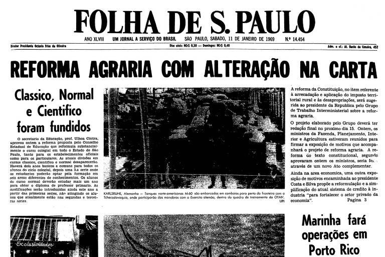 1969: Projeto para reforma agrária propõe que sejam feitas alterações na Carta