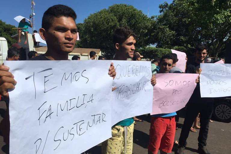 Protestos de madeireiros pró-Bolsonaro