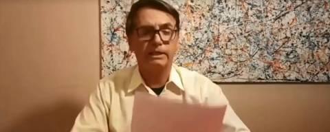 Jair Bolsonaro em live no Facebook em 18.dez.18