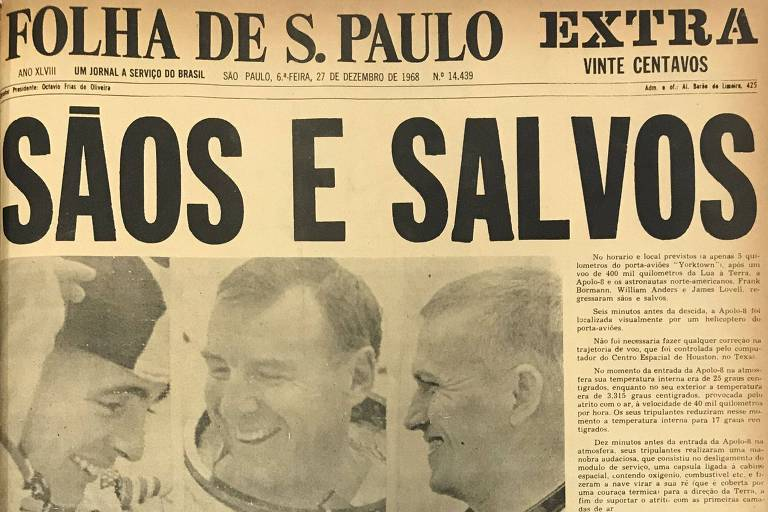 1968: Apollo 8 chega ao Pacífico e ganha recepção com bolo e tapete vermelho
