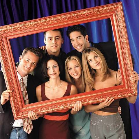 "ORG XMIT: 460701_1.tif Televisão: elenco do seriado ""Friends"" posa para fotografia publicitária.