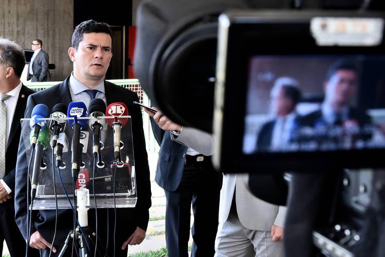O futuro ministro da Justiça, Sergio Moro, no anúncio da subprocuradora-geral da República Maria Hilda Marsiaj como nova secretária nacional de Justiça
