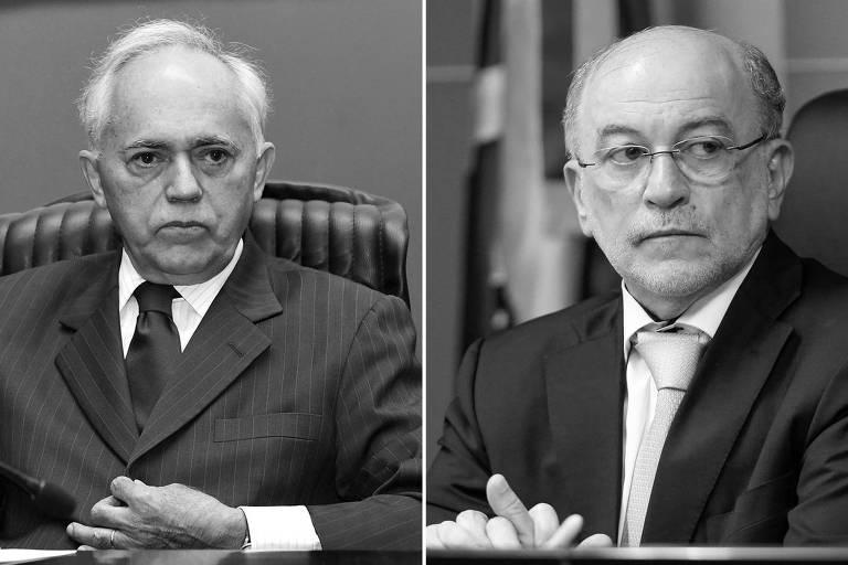 Os ministros Raimundo Carreiro (à esq.) e Aroldo Cedraz, do TCU (Tribunal de Contas da União)