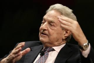 Chairman of Soros Fund Managment Soros speaks at Massachusetts Institute of Technology