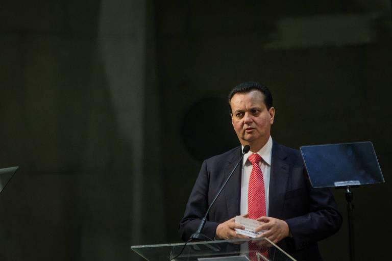 O ministro da Ciência e Tecnologia, Gilberto Kassab, durante um evento