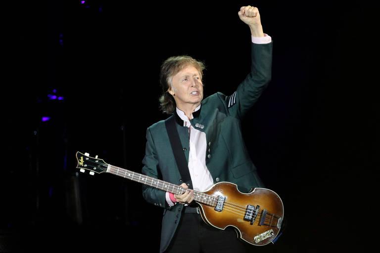 O cantor inglês Paul McCartney durante show em Porto Alegre