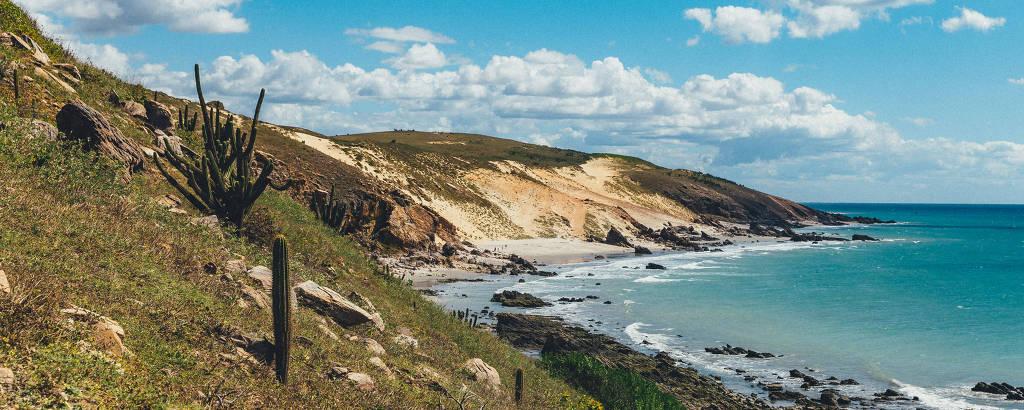 Praia da Vitória, na região de Jericoacoara (CE)