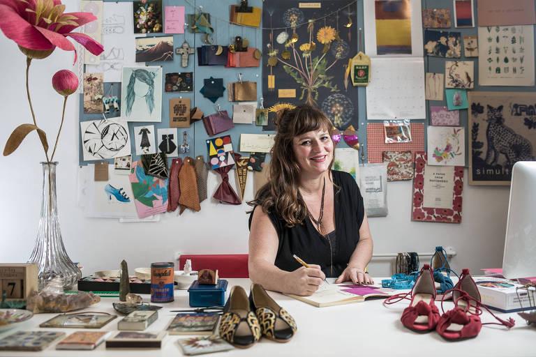 Lia Ribeiro, dona da marca de calçados femininos artesanais Laiá