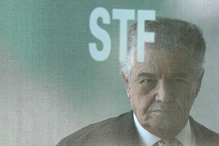 O ministro Marco Aurélio Mello no STF (Supremo Tribunal Federal)