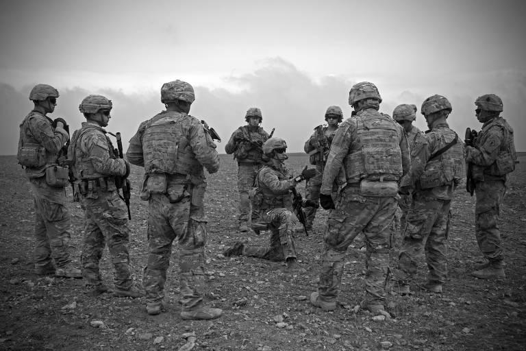 Militares americanos em Manbij, na Síria, em novembro deste ano