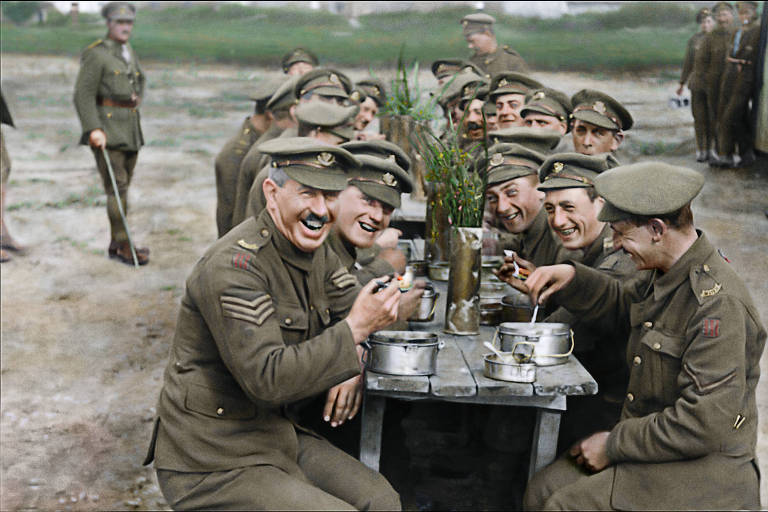 "Cena do documentário ""They Shall Not Grow Old"", de Peter Jackson"