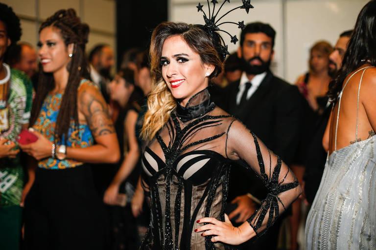 Tata Werneck no Baile da Vogue, em 2017