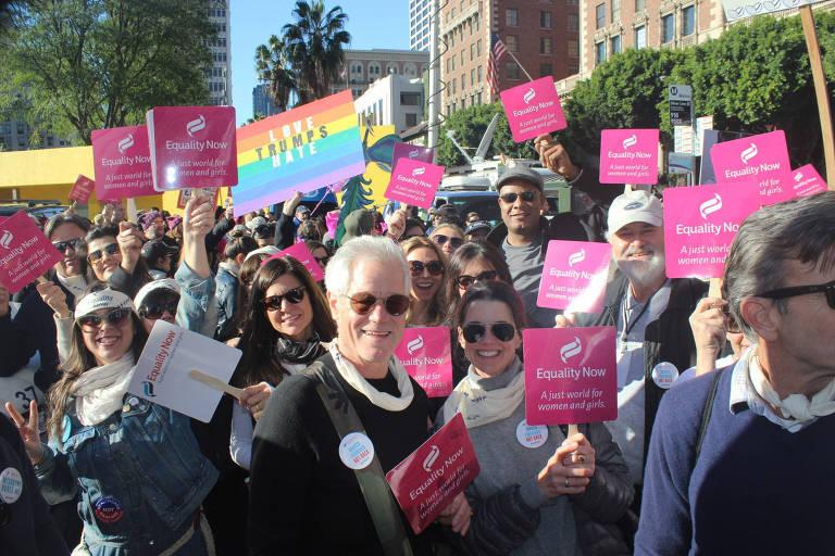 Equipe da Equality Now na Marcha das Mulheres em Los Angeles, em 2017