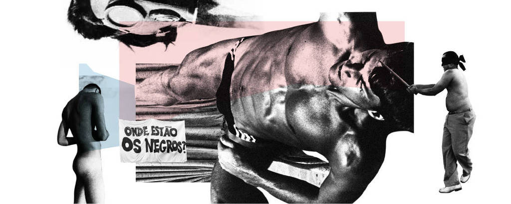 Colagem de Alex Kidd para a retrospectiva de artes plásticas da Ilustrada