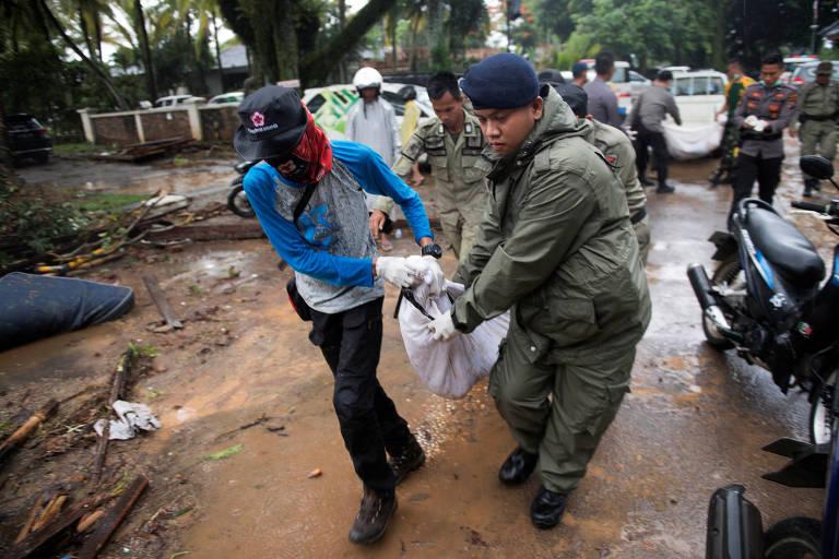 Tsunami deixa mortos e feridos na Indonésia