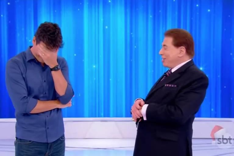 Rodrigo Faro chorou durante seu encontro com Silvio Santos