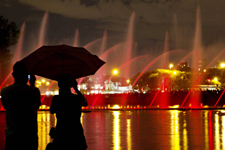 Espetáculo da fonte luminosa do Parque do Ibirapuera