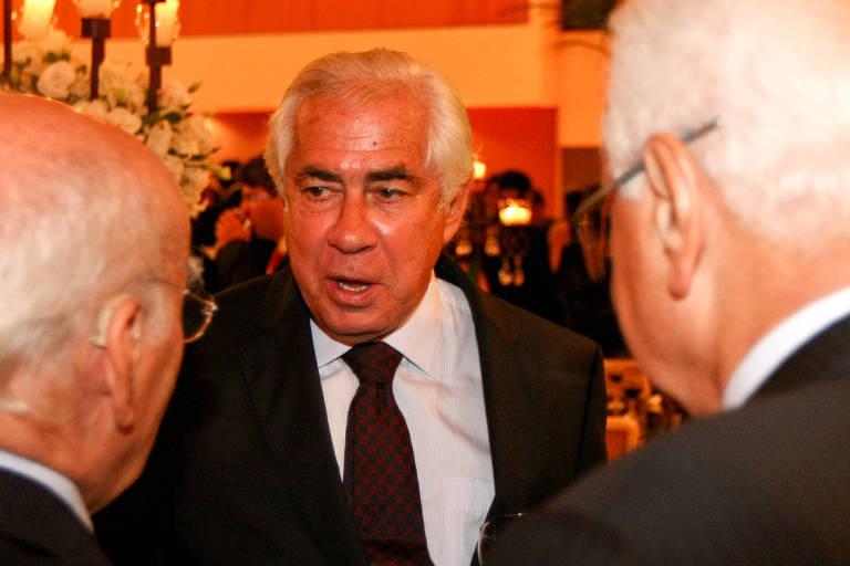 O advogado e ex-deputado federal Sigmaringa Seixas, durante o coquetel de posse do ministro Luis Roberto Barroso no STF, promovida pela Assosiação dos Magistrados do Brasil, em Brasília
