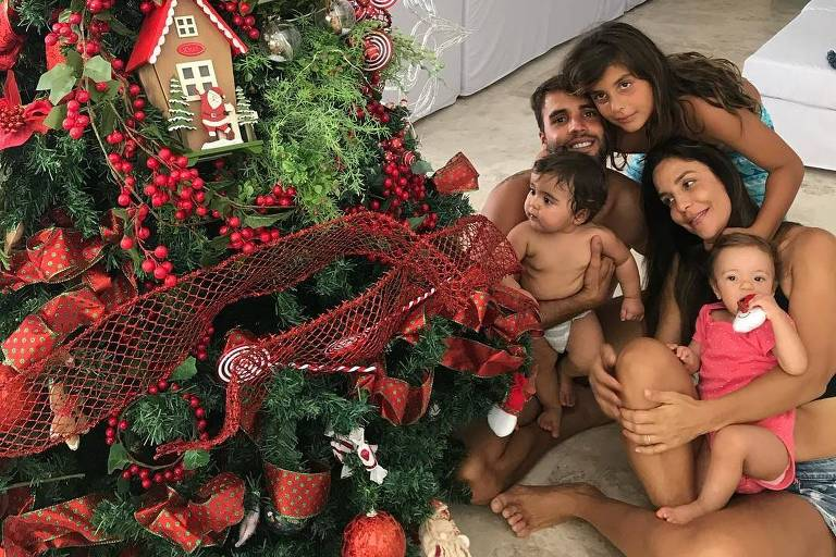 Ivete Sangalo e a família