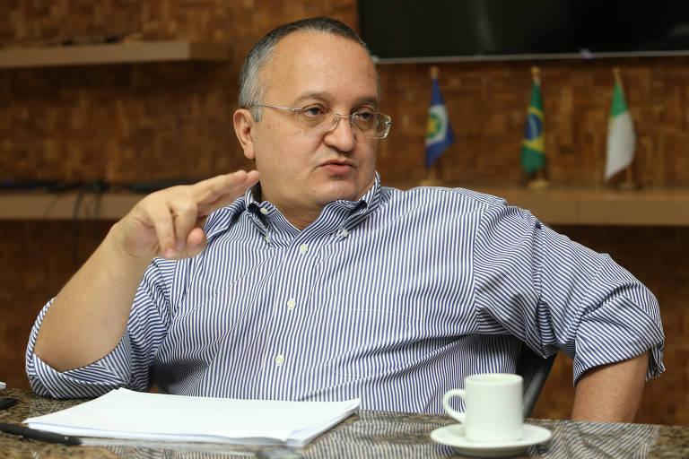 O governador de Mato Grosso, Pedro Taques (PSDB), em entrevista à Folha