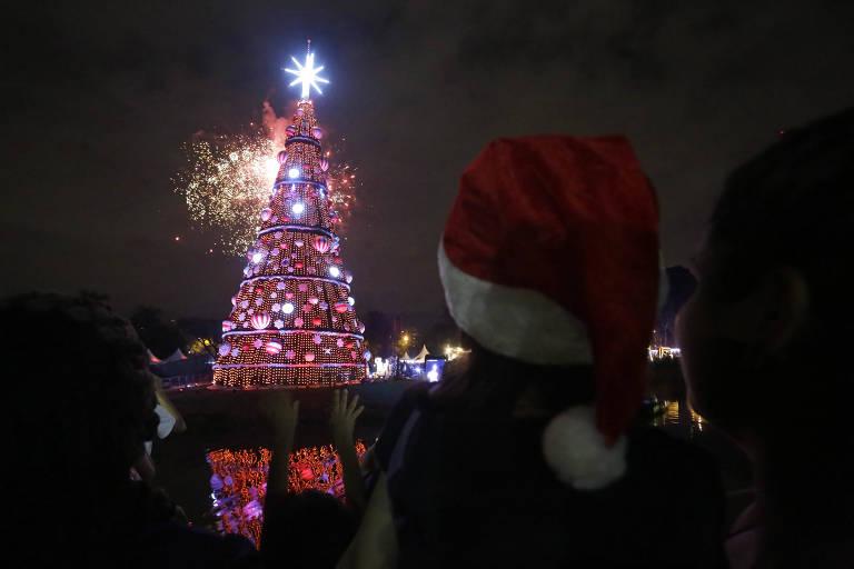 Inauguração da árvore de Natal do Ibirapuera