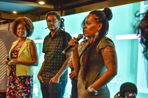 Giza Oliviera, participante da primeira turma do AfroHub, programa de aceleração para empreendedores negros realizado por Feira Preta, Afrobusiness e Diáspora.black em parceria com a Estação Hack do Facebook