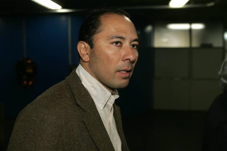 Klinger Luiz de Oliveira Souza, depõe  em 22 julho 2005,  no Fórum de Santo André no processo por corrupção no setor de transporte