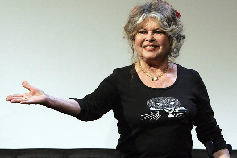 A ex-atriz francesa Brigitte Bardot, 84 anos