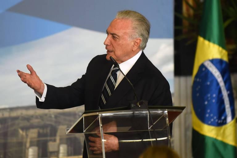 O ex-presidente Michel Temer, que perdeu o foro especial ao deixar o Planalto